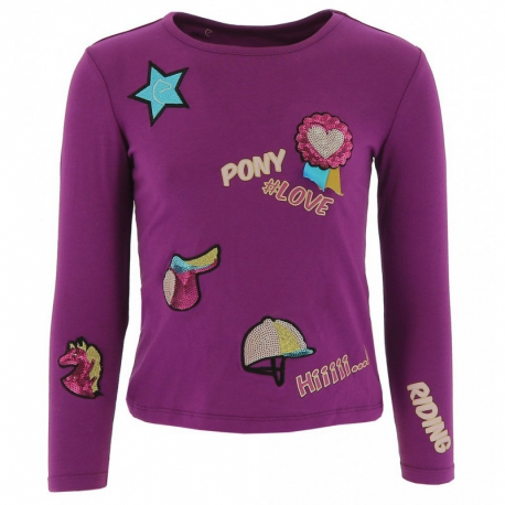 T-shirt Equi-Kids PonyLove badges