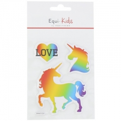 Sticker relief love Equi-kids
